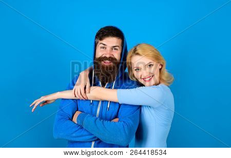 Beautiful Young Happy Couple In Love. Stylish Girl Hugs Guy. Happy Loving Couple. Pair Man And Woman