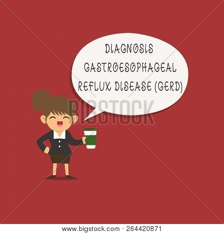 Word writing text Diagnosis Gastroesophageal Reflux Disease Gerd . Business concept for Digestive disorder poster