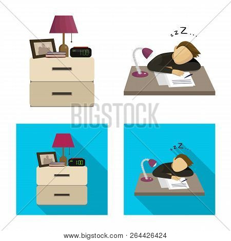 Vector Illustration Of Dreams And Night Logo. Collection Of Dreams And Bedroom Vector Icon For Stock