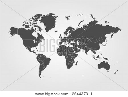 World Map Vector Globe Template For Website, Design, Cover, Annual Reports, Infographics