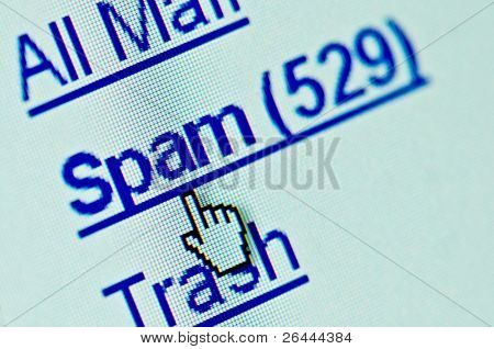 Spam e-mail folder macro. Copy space for your text