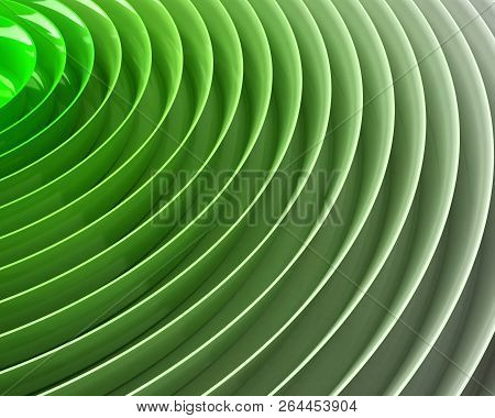 Green Gradient Colorful Waves Background , 3d Illustration