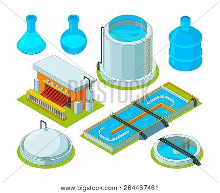 Water Cleaning. Watering Treatment Waste Separation Transport Chemical Industrial Water Purification