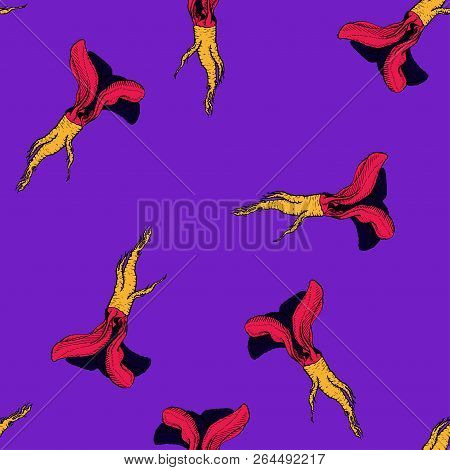 Horseradish Vector Vibrant Coloured Pattern For Web, Textile, Branding, T-shirts, Cards, Craft