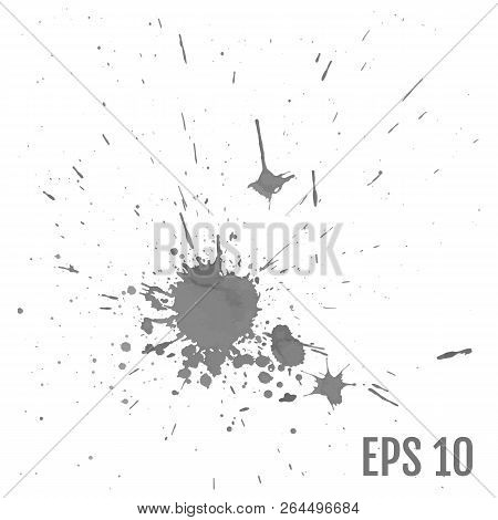Splashes Hand Made Tracing From Sketch Vector Illustration. All