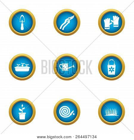 Frontage Icons Set. Flat Set Of 9 Frontage Vector Icons For Web Isolated On White Background