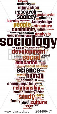 Sociology Word Cloud Concept. Vector Illustration On White