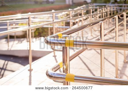 Ramp Way For Support Wheelchair .concret Ramp Way With Stainless Steel Handrail For Support Wheelcha