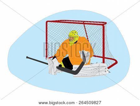Ice Hockey Goalie Vector Photo Free Trial Bigstock