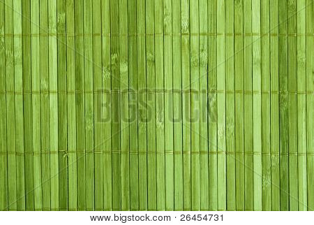 Traditional green bamboo pad texture