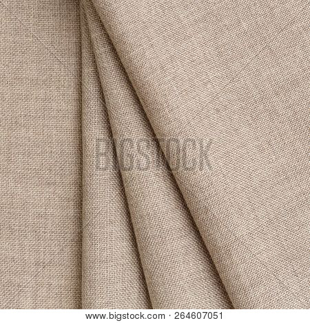 Soft Linen Fabric For Sewing Clothes. Fabric Background