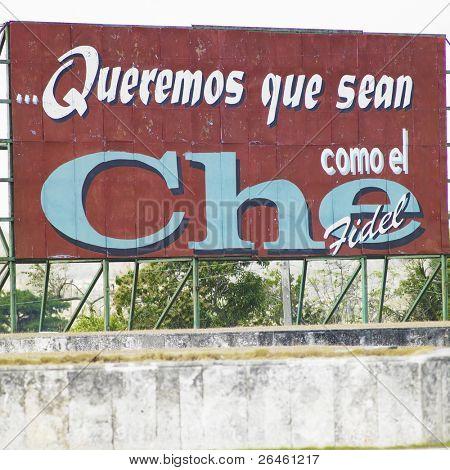 political billboard (Che Guevara), Santa Clara, Cuba poster