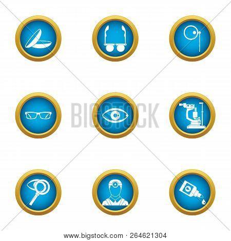 Scientific Environmentalist Icons Set. Flat Set Of 9 Scientific Environmentalist Vector Icons For We