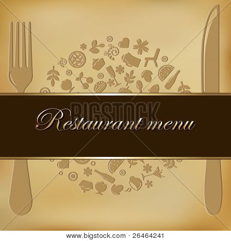 Restaurant Menu Design, Vector Illustration