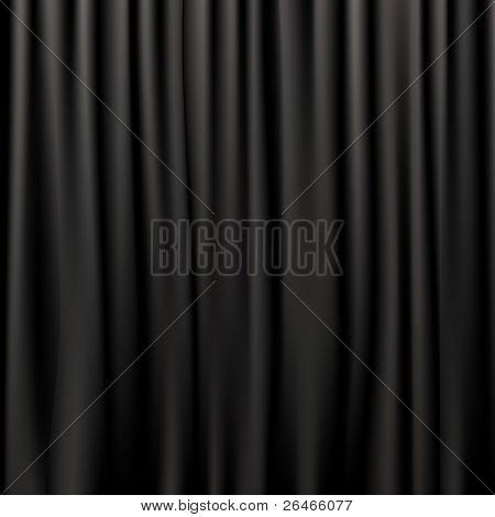 Black Silk Curtains poster