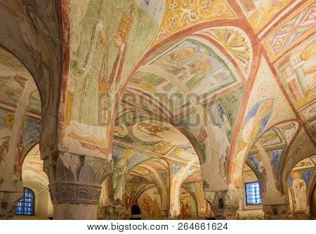 Aquileia,italy - September 15,2018 - View At The Painted Interior In Basilica Of Santa Maria Assunta