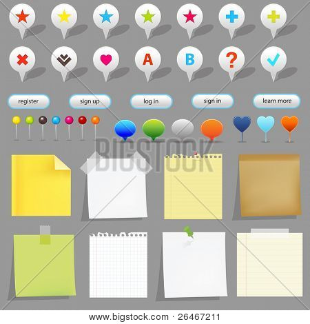 Map Set, Isolated On White Background, Vector Illustration
