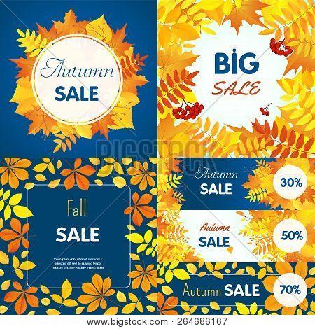 Final Autumn Sale Banner Set. Flat Illustration Of Final Autumn Sale Banner Set For Web Design