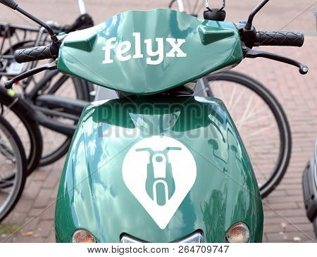 Felux E-scooter In The Streets Of Amsterdam