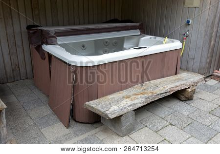 Empty Hot Tub, Waiting To Be Used