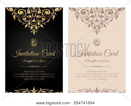Exclusive Invitation Card Template Design In Vintage Style