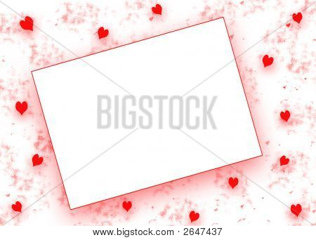 Heart Background With Blank Opening
