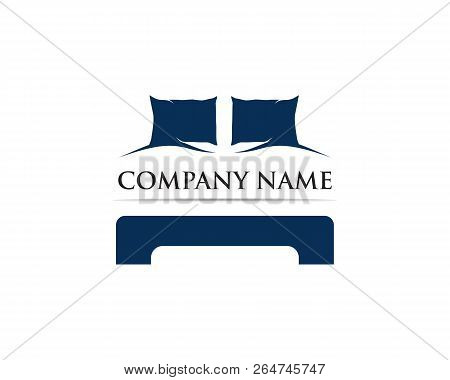 Bed Logo Vector Template Illustrator