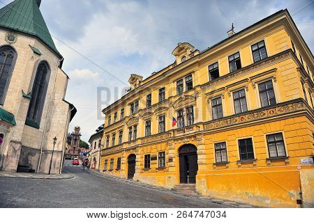 View Of The Street In Banska Stiavnica Old Town, Slovakia