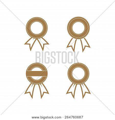 Award Ribbon, Award Ribbon Collection, Emblem Business Award Ribbon, Award Ribbon Vector Image
