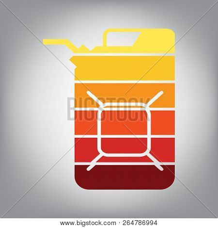 Jerrycan Oil Sign. Jerry Can Oil Sign. Vector. Horizontally Slic