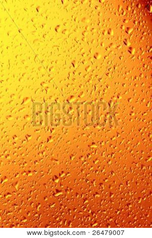 Water droplets as colors background poster