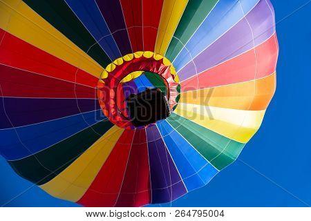 Fans enjoy a balloon launch at a local festival