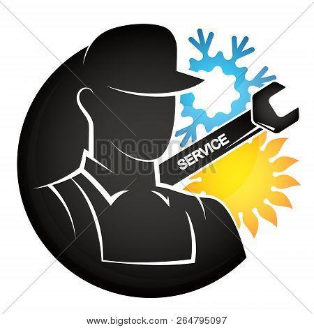 Air Conditioning Repair Master Vector Logo Icon