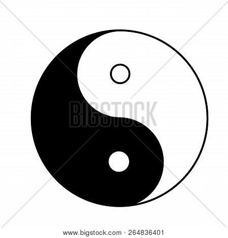 Ying yang icon on white background. flat style. Ying yang sign for your web site design, logo, app, UI. poster