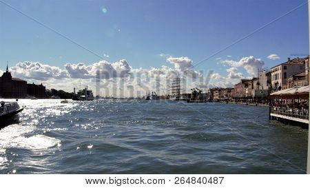 Beautiful View Of Famous Grand Canal In Venice