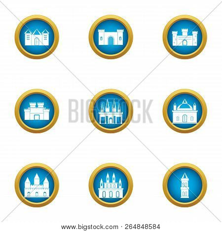 Spire Icons Set. Flat Set Of 9 Spire Vector Icons For Web Isolated On White Background