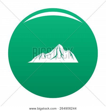 Tall Mountain Icon. Simple Illustration Of Tall Mountain Vector Icon For Any Design Green