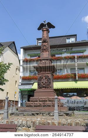 Kamp-bornhofen, Germany - July 07, 2018: Monument To The Fallen Soldiers In The 1866-1870s Of The 19