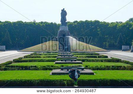 Berlin, Germany - September 5, 2018: Soviet War Memorial, Warrior Liberator Monument In Treptow Park