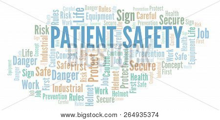 Patient Safety Word Cloud. Word Cloud Made With Text Only.