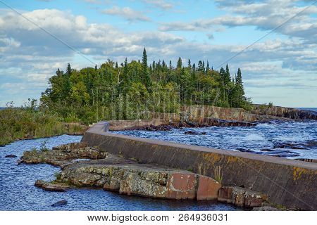 Artists Point In Grand Marais, Minnesota Along Lake Superior On The North Shore