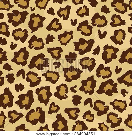 Leopard Skin Fur Print Seamless Pattern. Great For Classic Animal Product Design, Fabric, Wallpaper,