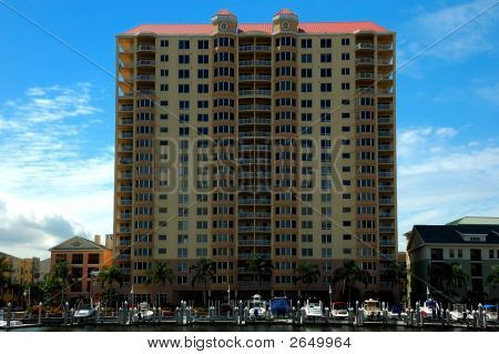 Condominium Building In The Convention Center Area, Tampa, Florida, Usa