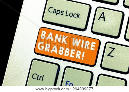 Text Sign Showing Bank Wire Transfer. Conceptual Photo Electronic Transfer Of Money Through Bank To