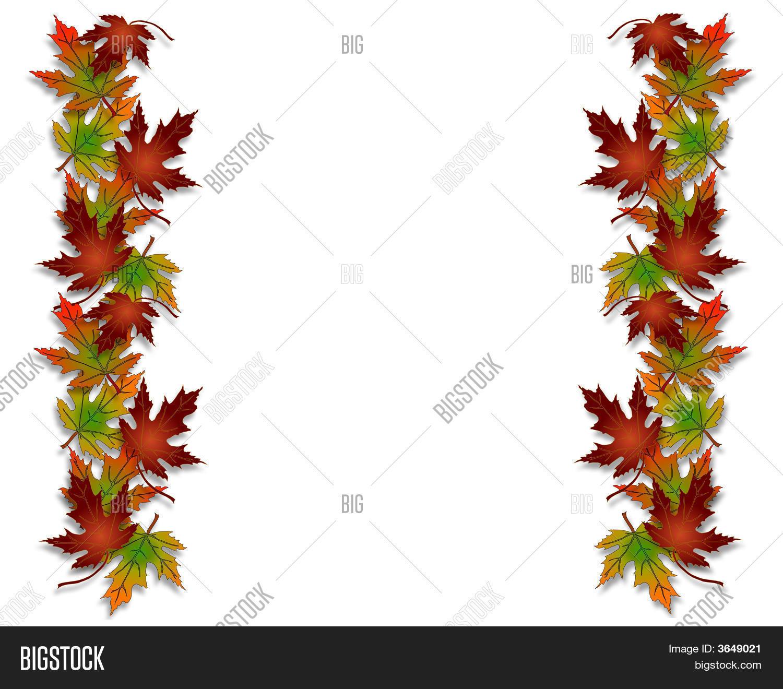 Fall Leaves Borders 3D Image & Photo (Free Trial) | Bigstock