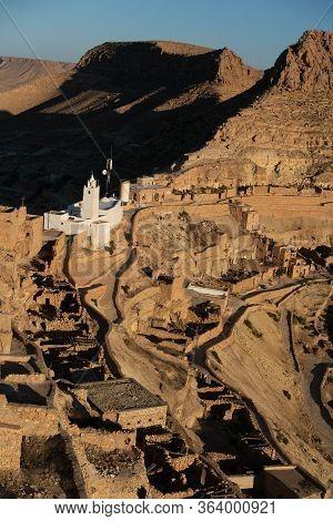 The Old Berbere Village Of Chenini In The Southern Tunisia