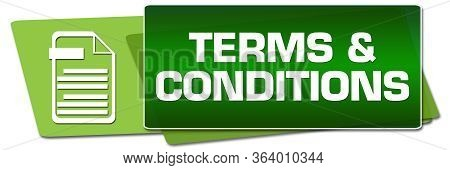 Terms And Conditions Text Written Over Green Background.