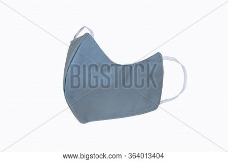 Cloth Mask For Protect From Covid-19 /  Cloth Mask On White Background And Workpath
