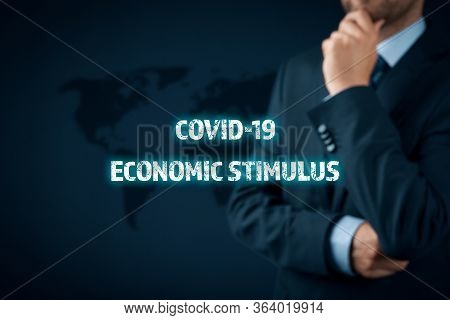 Government Economic Stimulus After Covid-19 Concept. Secretary Of The Treasury (politician) Think Ab