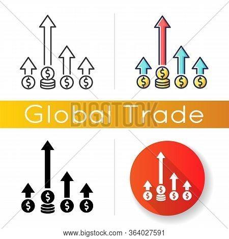 Competitive Edge Icon. Market Leadership, Company Opportunity. Winning Strategy, Advantage, Economic